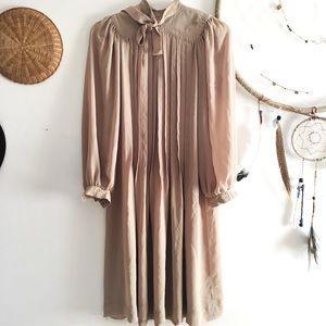 Vintage high-neck swing dress